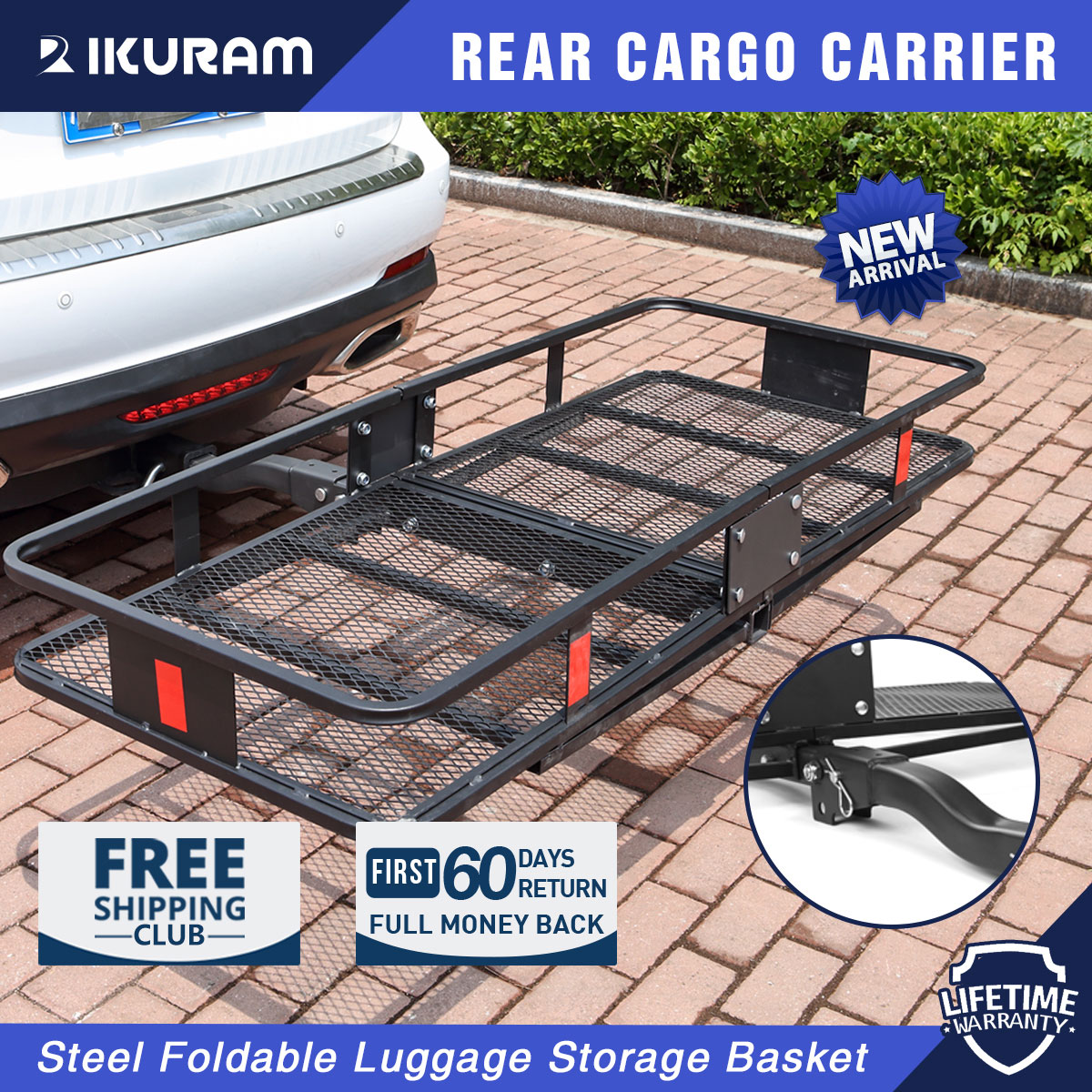 tow hitch cargo carrier trailer basket