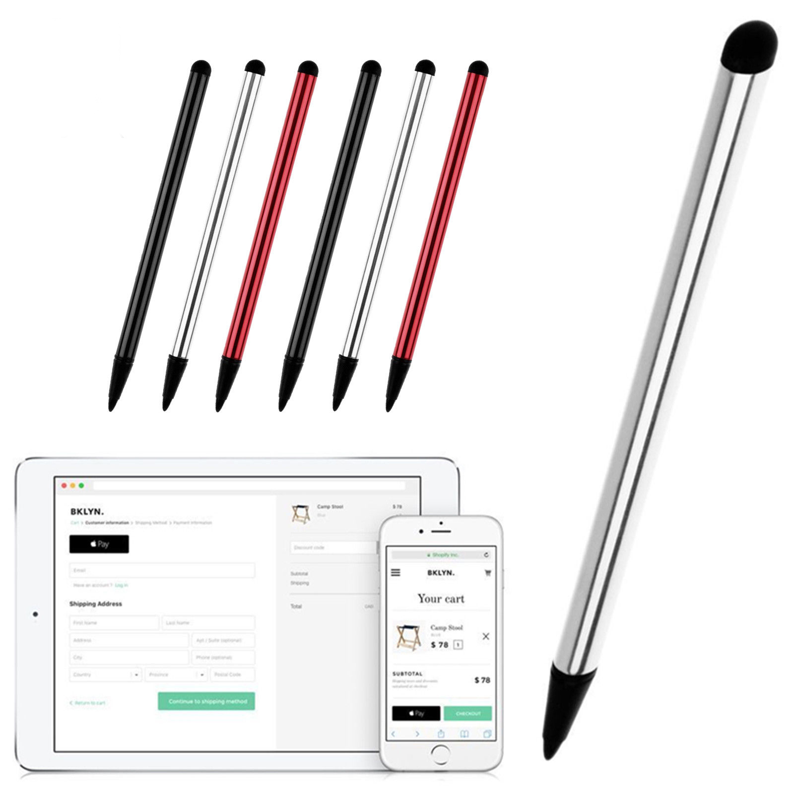 1pcs Capacitive Touch Pen Screen Stylus Pencil For Iphone