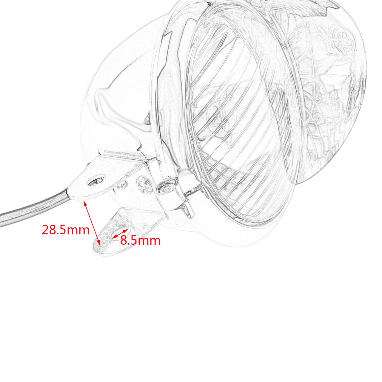 1pc Chrome Motorcycle Universal Fog Light Lamp Headlight Visor For Harley Honda