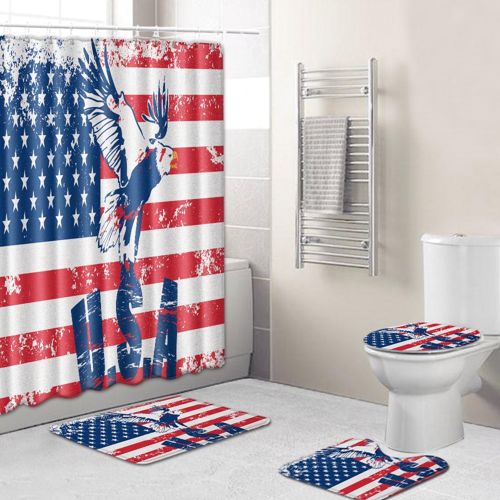 usa patriot shower curtain fourth of