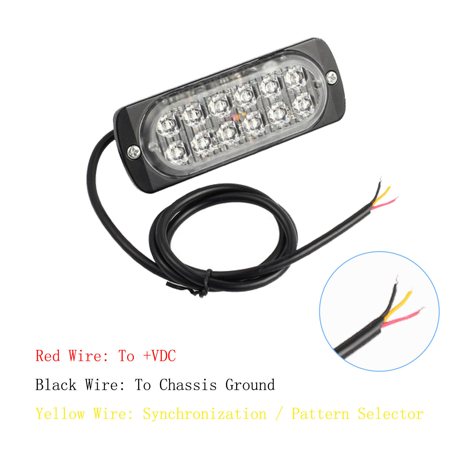 Yellow Law Truck Ultrathin Car Led Bar Snow Plow Safety