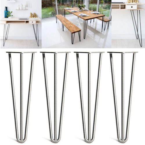 4x 10mm 12mm steel hairpin table legs 2