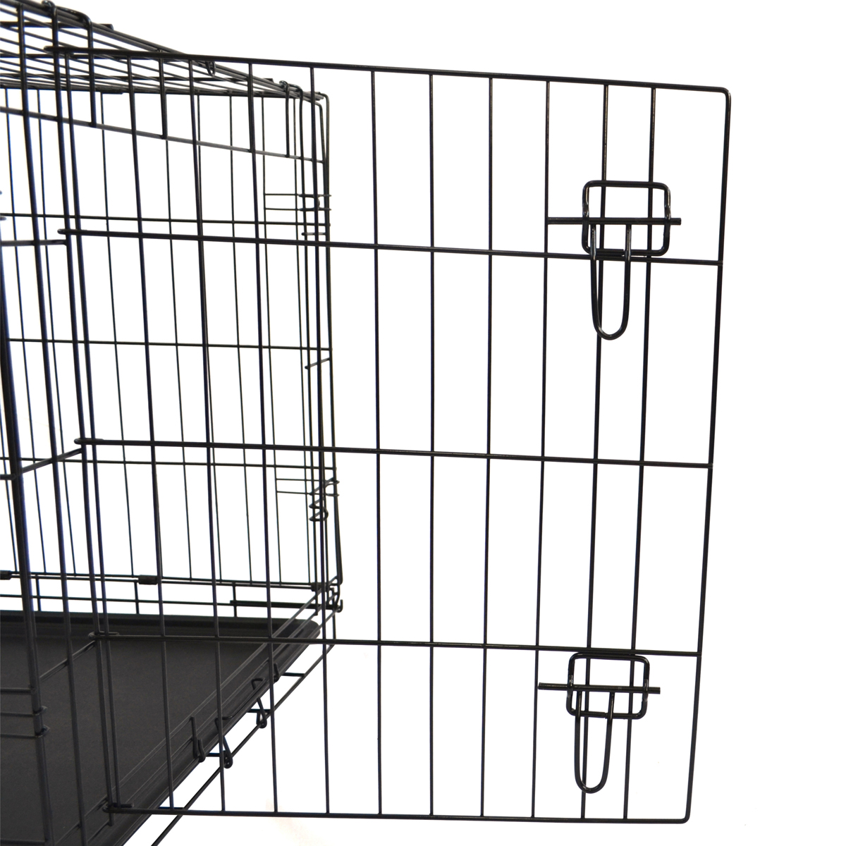 Metal Tray Foldable Pet Puppy Dog Cage Playpen Carrier