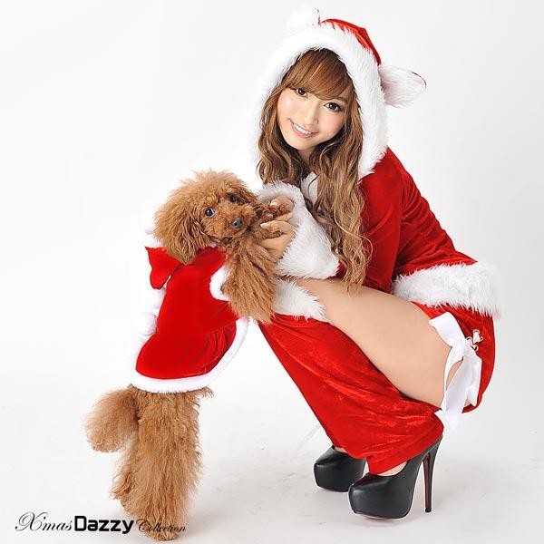 【ドッグウェア】クリスマスに着せたい! ワンちゃん用 サンタさん パーカー【S,M】あす楽対応