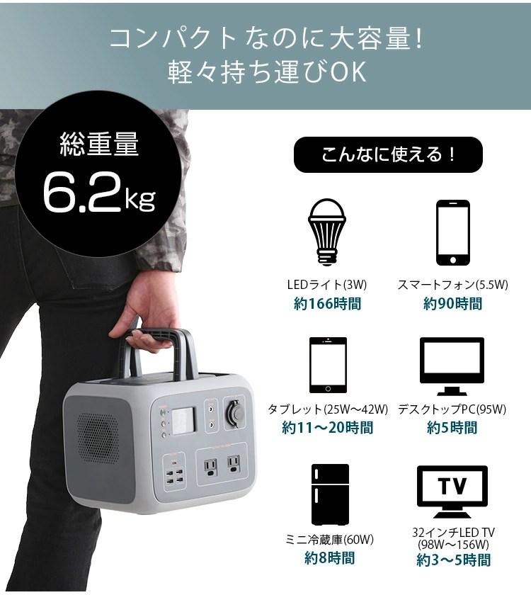 ポータブルバッテリー AC50(500Wh)