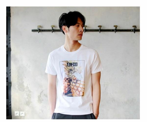 Tシャツ メンズ「ALOHA THE DAY TRIP」M柄