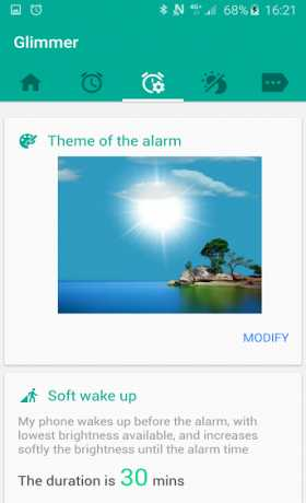 Glimmer (luminous alarm clock)