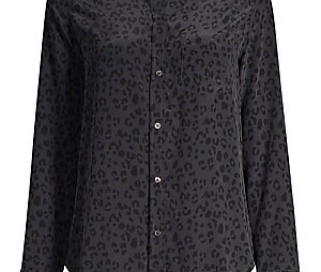 Rails Kate Cheetah Print Silk Button Down Shirt