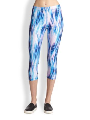 Snow Dream Printed Cropped Leggings