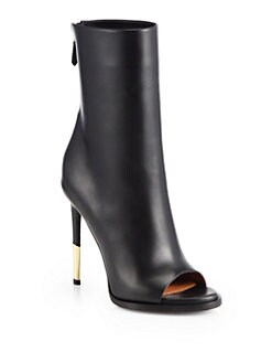 Givenchy - Leather Shark-Heel Ankle Boots