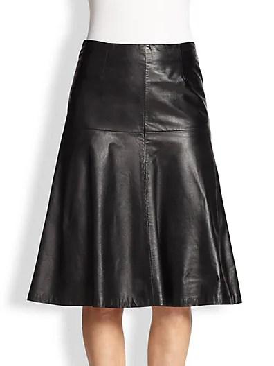 Celine Leather Bell Skirt