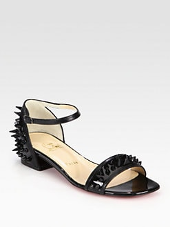 Christian Louboutin - Druide Spiked Patent Leather Sandals