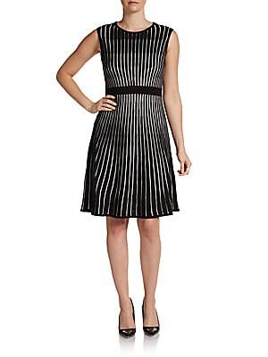 Striped A-Line Sweater Dress