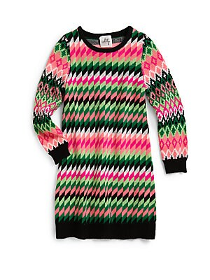 Girls Fair Isle Sweater Dress