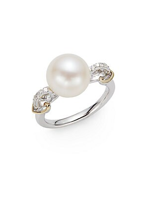 pearl rings gold band