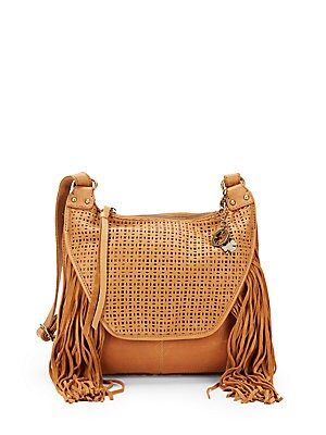 Lucky Brand Fringed Laser-Cut Bag