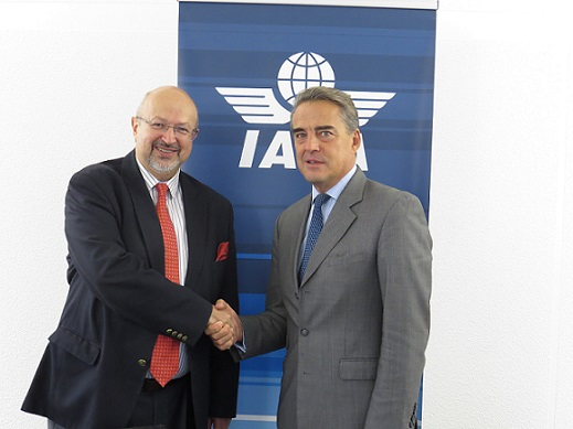 OSCE Secretary General; Lamberto Zannier and IATA Director General and CEO; Alexandre de Juniac