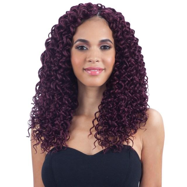 "freetress synthetic hair crochet braids beach curl 12"""