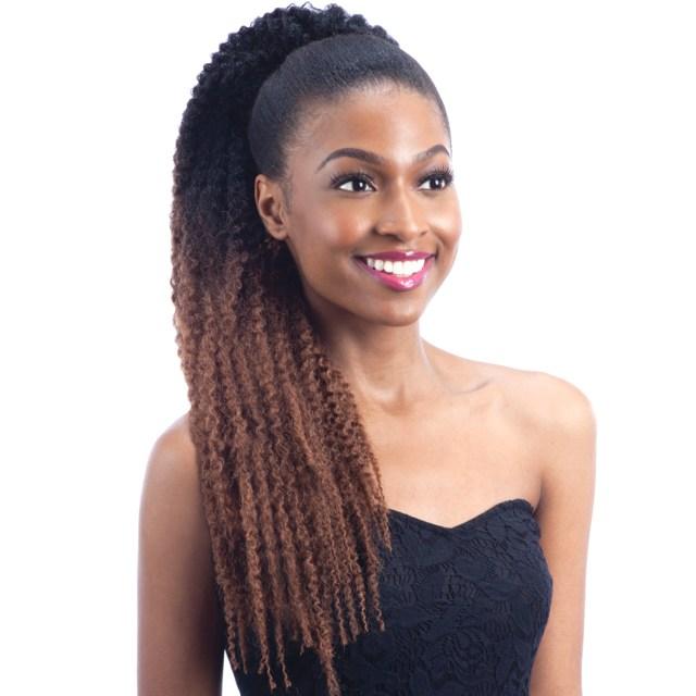 freetress synthetic hair ponytail buntie jamaica tie
