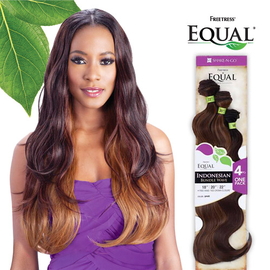 freetress equal synthetic hair weave indonesian bundle wave 4pcs samsbeauty