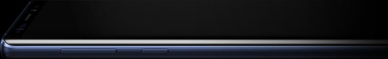 Galaxy Note9 laying flat seen from the left, a line appears on screen then the S Pen follows