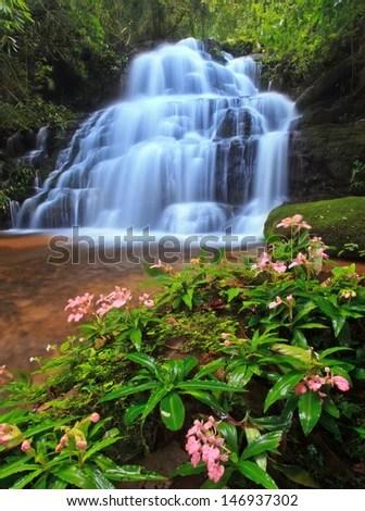 Mundeang Waterfall in Phu Hin Rong Kao National Park ,Phetchabun, Thailand - stock photo