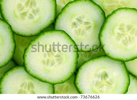 stock photo : background with cucumbers