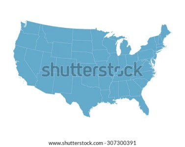 United States Map Vector   Download Free Vector Art  Stock Graphics     blue vector map of United States