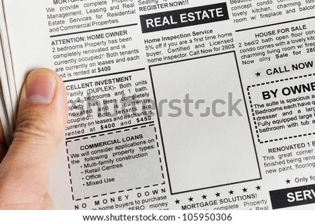 display ads, display newspaper ads, display real estate ads, real estate ads