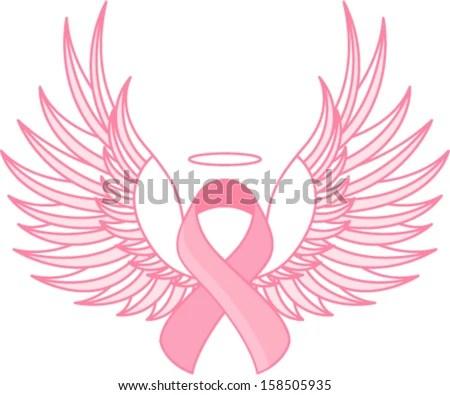 breast cancer angel stock vector illustration 158505935 shutterstock
