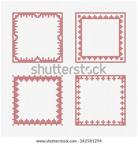 cross stitch frame pattern   Frameviewjdi.org