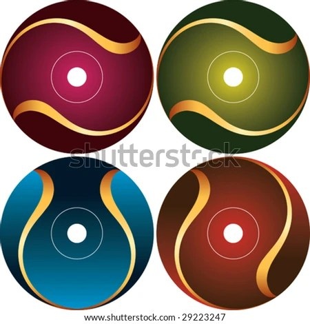 Cd Label Design Templates. cd cover page template free vector ...