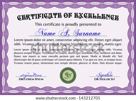 Certificate Of Excellence Template certificate of employee – Sample Certificate of Excellence