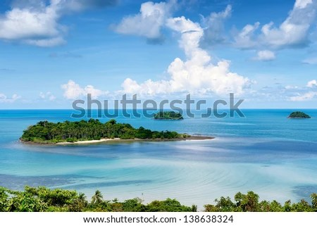 Chang tropical islands, Trat archipelago in Thailand - stock photo