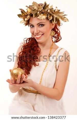 portrait of a greek goddess - stock photo