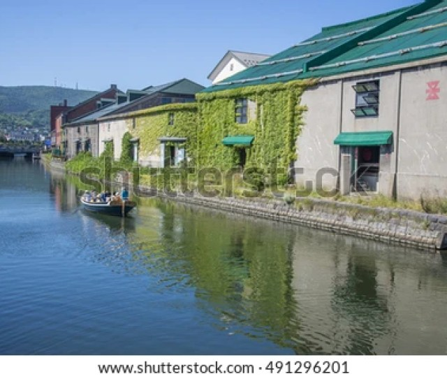 Hokkaido Japan  Warehouses Along The Otaru Canal In Otaru City