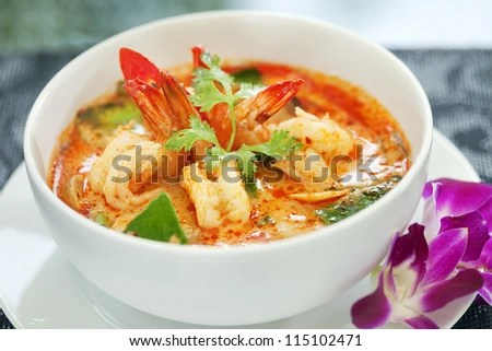 Tom Yam Kung (Thai cuisine) - stock photo
