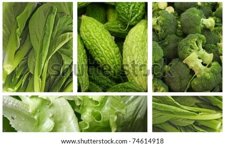 stock photo : Green Vegetables for a Healthy Eating Lifestyle