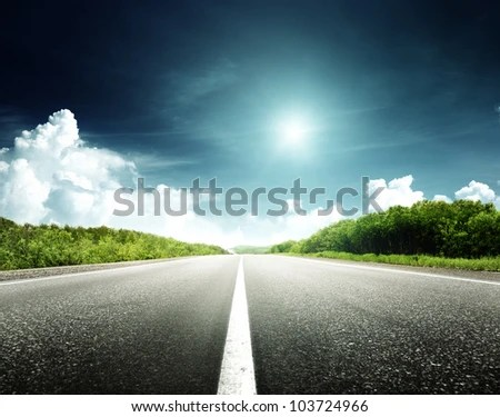 stock photo : road in forest