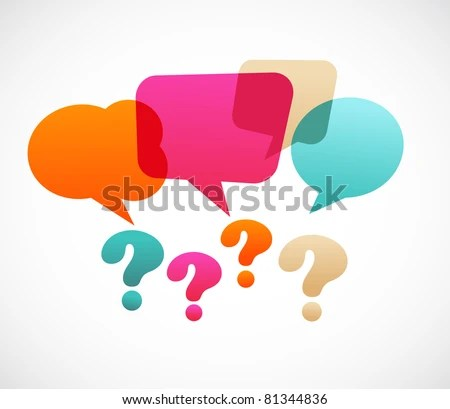 stock vector : question mark with speech bubbles