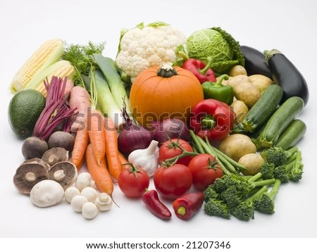 stock photo : Selection Of Fresh Vegetables