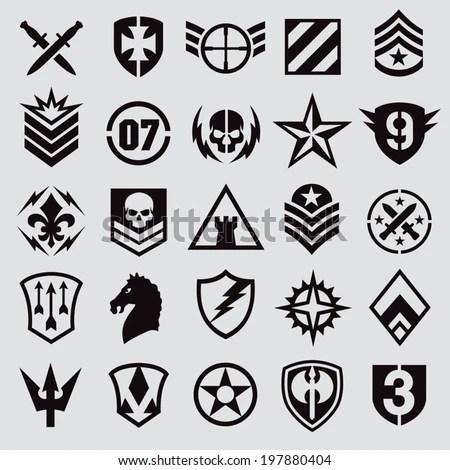 Military symbol icons