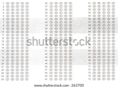 Free Scantrons Printable Sheets