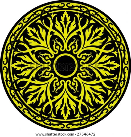 Symbolic Celtic Circle with detailed