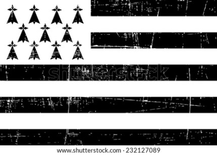 grungy Flags of brittany