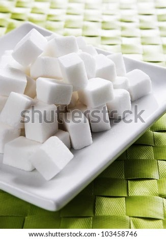 stock photo : Cubes of sugar