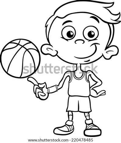 of funny boy player with ball for