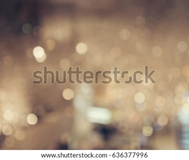 Blur Shining Brighten Soft Cream Yellow Wallpaper With Circle Lantern Abstract Blurred Background In Light