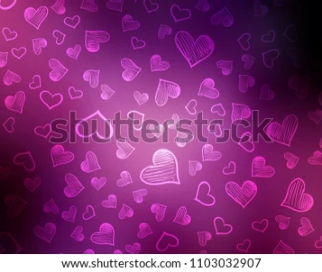 Dark Purple Pink Vector Background With Hearts Glitter Abstract Illustration With Colorful Hearts In