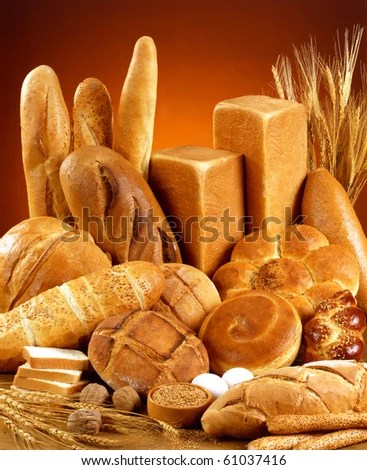 stock photo : Variety of bread